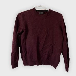 Burgundy 100% merino wool sweater
